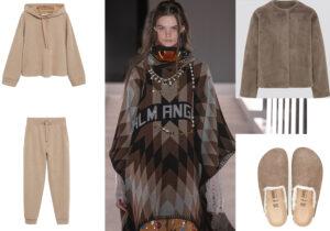 Felpa e pantaloni Mango comfy - look Palm Angels - giacca pile Uniqlo - ciabatte unisex Birkenstock
