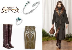 Montatura Good's / bracciale e anello Botanical di Atelier Swarovski / stivali e gonna The Double F Paris Texas / look Simonetta Ravizza /