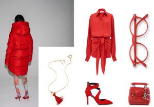 Piumino Bacon / collana Atelier VM / look The Attico / occhiali 'Screen' di Izipizi / scarpe Cafè Noir / borsa La Carrie /