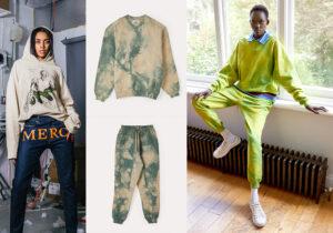 Total look MXM Mercy X Mankind - felpa e pantaloni tye-dye e look Vivienne Westwood
