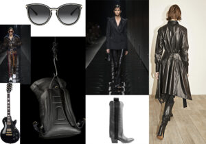 occhiali Michael Kors by Luxottica - look Versace - chitarra 'Les Paul' di Gibson - zaino Gimenale - 'Chicca' boots by Bruno Bordese - look Angelos Frentzos
