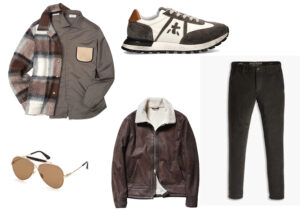 Overjacket e camicia di Tintoria Mattei 954 - occhiali Tom Ford by Marcolin - sneakers eco di Premiata - giubbotto Gas - pantaloni Dockers