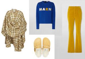 Poncho di Pomandere - ciabatte Birkenstock modello unisex - felpa e pantaloni Marni Woman