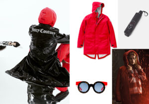 Total look Juicy Couture - parka impermeabile di Canada Goose - occhiali Kyme - ombrello Karl Lagerfeld Ikonik - total look Woolrich Woman