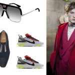 occhiali Gucci by Kering / scarpe  Christian Louboutin / sneakers Nike 'React' in vendita da Foot Looker / look Berluti Man.